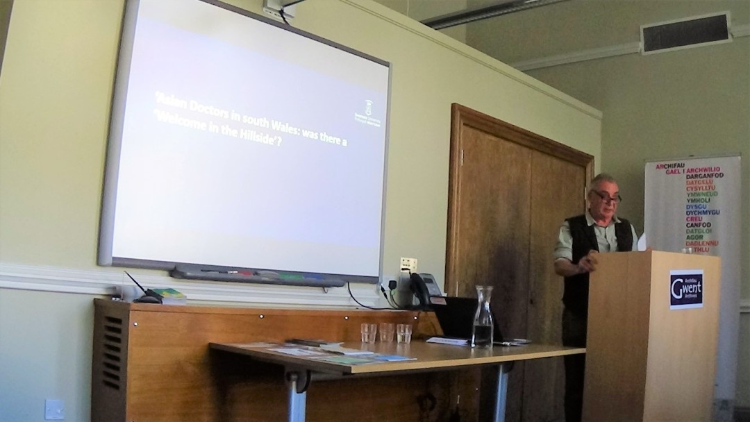 Dr. Peter Dickson spoke about his research into experiences of South Asian G.P.s in South Wales