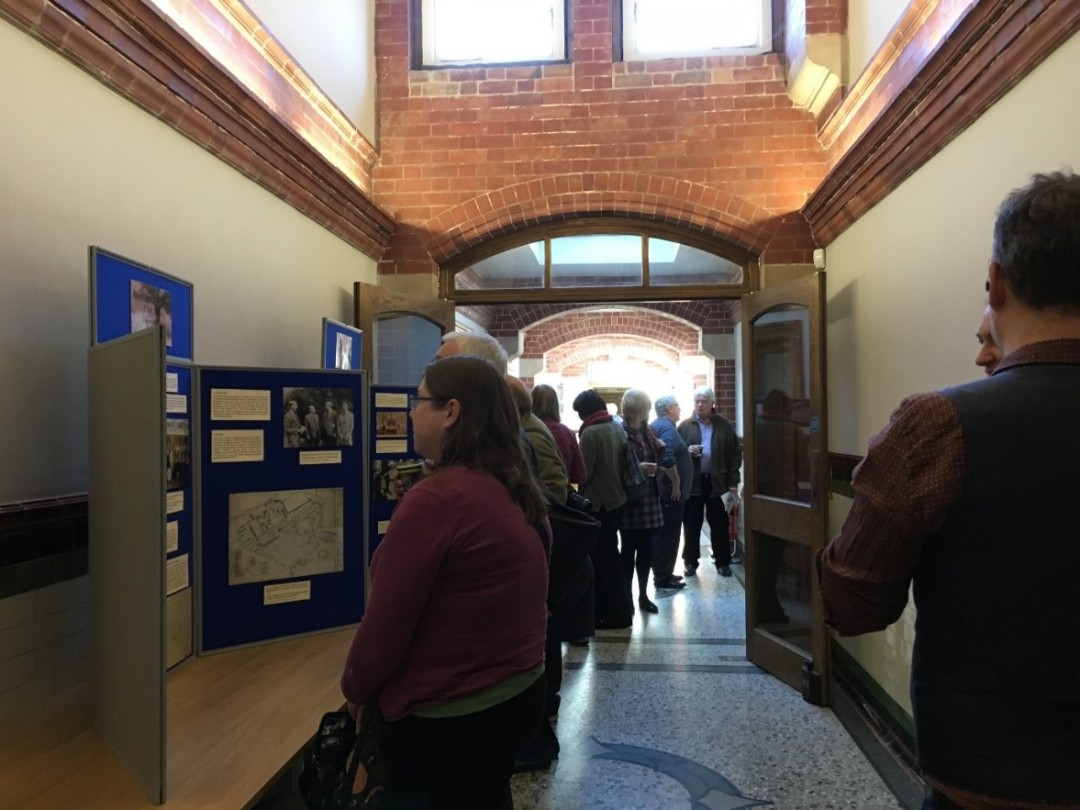 Visitors viewing the exhibition