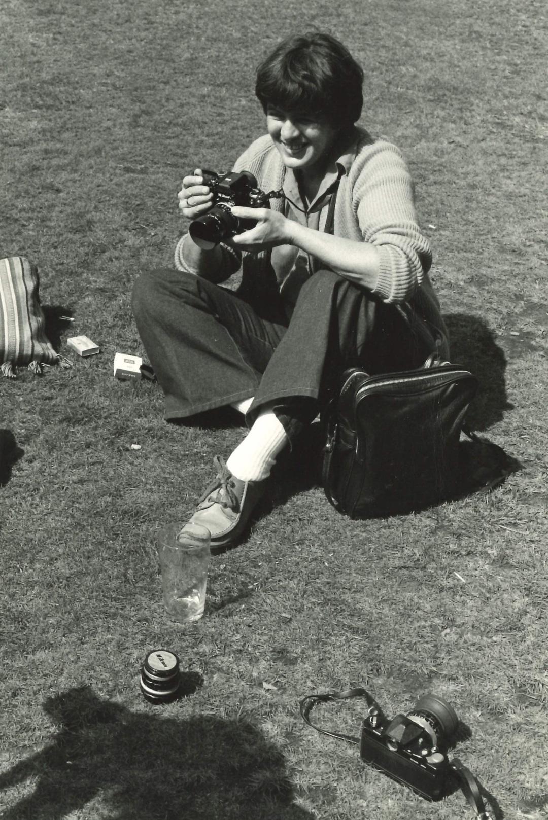 Photograph of Raissa Page, early 1980s, photographer unknown, thanks to Richard Burton Archives, Swansea University