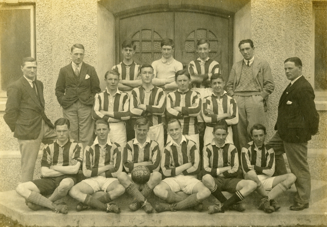 Holyhead County School, football team, 1929 - 1930 Anglesey Archives